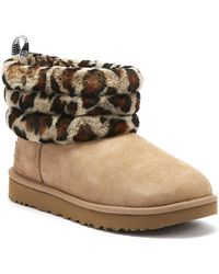 UGG Fluff Mini Quilted Short Boots - Brown