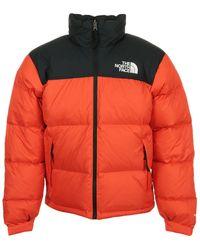 The North Face Blouson en duvet rouge et noir 1996 Retro Nuptse
