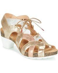 Think! - Kyan Women's Sandals In Gold - Lyst