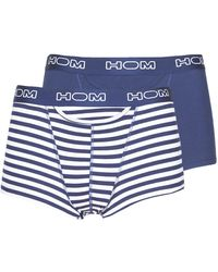 Hom Boxers Pacific Boxer Brief Pack X2 - Blauw