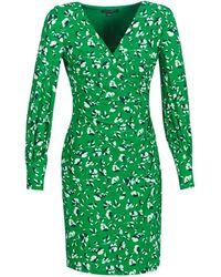Lauren by Ralph Lauren FLORAL PRINT-LONG SLEEVE-JERSEY DAY DRESS femmes Robe en vert