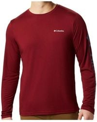 Columbia T-shirt Miller Valley - Rouge
