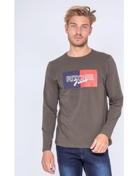 Ritchie T-shirt T-shirt manches longues col rond JANOUKA - Vert