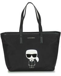 Karl Lagerfeld Boodschappentas K/ikonik Nylon Tote - Zwart