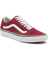 dd872f4f822 Vans - Dry Rose Red   True White Old Skool Trainers Men s Shoes (trainers)