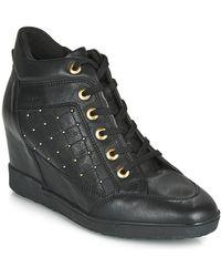 Geox Hoge Sneakers D Carum - Zwart