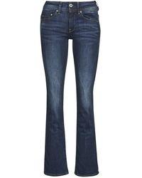 G-Star RAW Pantalón de campana MIDGE SADDLE MID BOOTLEG - Azul