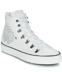 Roberto Cavalli Hoge Sneakers Mike - Wit