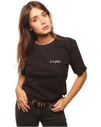 L'affaire De Rufus - Organic Cotton Round Neck T-shirt Women's T Shirt In Grey - Lyst