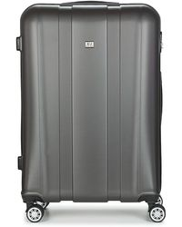 David Jones Chauvetto 107l Women's Hard Suitcase In Grey - Gray