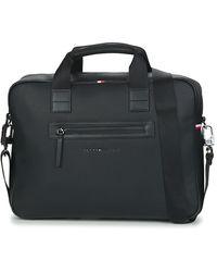 Tommy Hilfiger Aktetas Essential Pu Computer Bag - Zwart