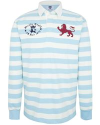 Ellis Rugby - Varsity 'light Blues' Vintage Rugby Top Men's Polo Shirt In Multicolour - Lyst