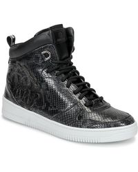Roberto Cavalli Hoge Sneakers 8343 - Zwart