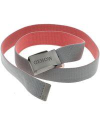 Oxbow Tari sangle ceinture quartz Ceinture - Gris