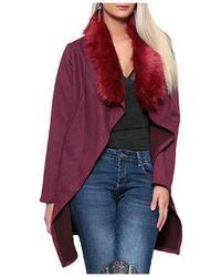 Infinie Passion - Burgundy Coat 00w059715 Women's Coat In Red - Lyst