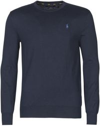 Polo Ralph Lauren Slim Fit Pullover Van Katoen - Blauw