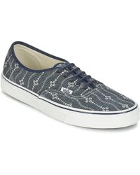 aa4f9619a0 Vans Authentic Men s Shoes (trainers) In Blue in Blue for Men - Lyst