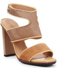 Lacoste 7-25srw1201158 High Heels For Women Sandals - Brown