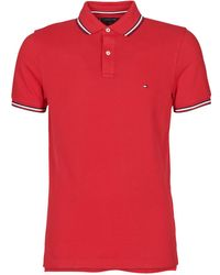 Tommy Hilfiger Polo TOMMY TIPPED SLIM POLO - Rojo
