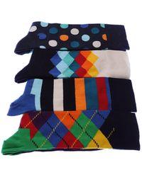 Happy Socks Calcetines Medio alto - Gift Box - Azul