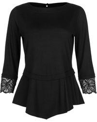 Lisca Blouses Top manches trois-quarts Impressive noir