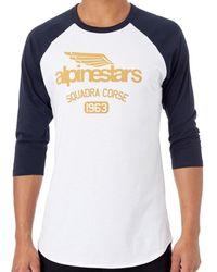 Alpinestars White-navy Winged Team Raglan T-shirt