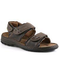 Josef Seibel - Firenze Triple Velcro Mens Walking Sandals Men's Sandals In Brown - Lyst