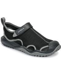 Crocs™ Swiftwatertm Mesh Deck Sandalen - Zwart