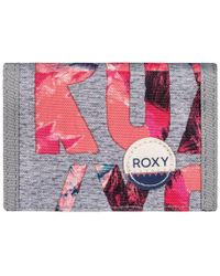 Roxy - Small Beach - Monedero Women's Purse In Grey - Lyst