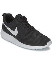 Nike Roshe Run Br Men's Shoes (trainers) In Black