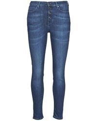 Guess Jeans 1981 EXPOSED BUTTON POWER - Bleu