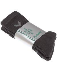 Hummel Chaussettes Mi-Hautes - Sports collectifs - 3 PACK BASIC SOCK Chaussettes de sports - Noir