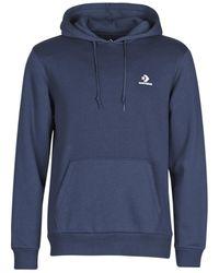 Converse Sweater Emb Po Hoodie Bb - Blauw