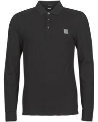 BOSS by Hugo Boss Polo Shirt Lange Mouw Passerby - Zwart