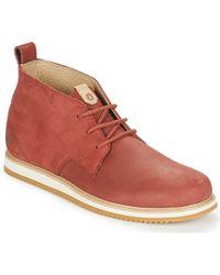 Volcom - Del Coasta Lthr Shoe Men's Mid Boots In Brown - Lyst