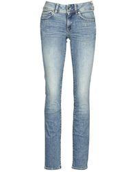 G-Star RAW Jeans Midge Mid Straight Wmn - Blauw