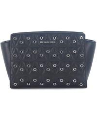MICHAEL Michael Kors - Selma Messenger Black Quilted Leather Shoulder Bag Women's Shoulder Bag In Black - Lyst