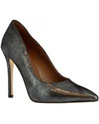 Leonardo Shoes Pumps 206 Laminato Argento - Metallic
