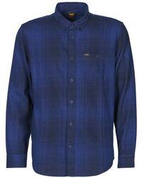 Lee Jeans Camisa manga larga RIVETED SHIRT WASHED BLUE - Azul