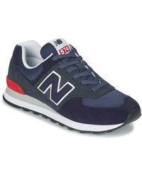 New Balance 574 Low-top Sneakers - Blauw