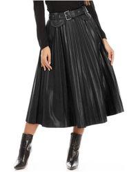La Modeuse - Jupe noire synthétique plissée Jupes - Lyst