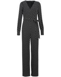 Lauren by Ralph Lauren Jumpsui Polka Dot Wide Leg Jumpsuit - Zwart