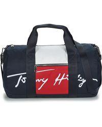 Tommy Hilfiger Sporttas Th Signature Duffle - Blauw