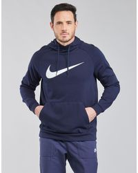 Nike Felpa Df Hdie Po Swsh - Blu
