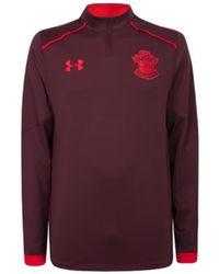 Under Armour - 2017-2018 Southampton Half Zip Training Top Men's Sweatshirt In Red - Lyst