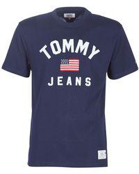 Tommy Hilfiger TJM USA FLAG TEE T-shirt - Bleu