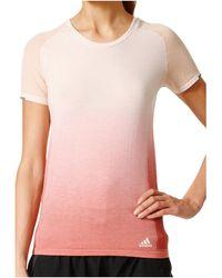adidas Primeknit Wool DD Tee Women T-shirt - Rose