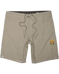 Vissla Khaki Solid Sets Printed - 18.5 Inch Boardshorts Shorts - Natural