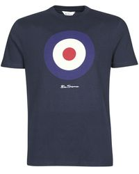 Ben Sherman T-shirt Korte Mouw Signature Target Tee - Blauw