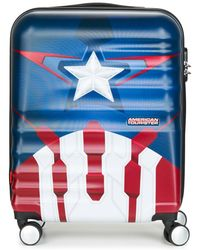 American Tourister Reiskoffer Captain America 55cm 4r - Blauw